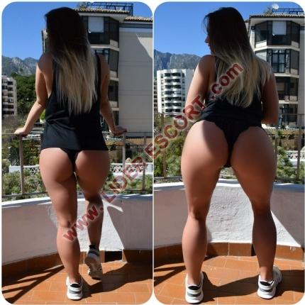 Hot blonde culona en Marbella  -